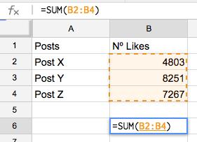 spreadsheet social media